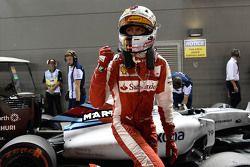 Il poleman Sebastian Vettel, Ferrari