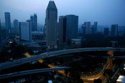 L'atmosfera del circuito di Singapore