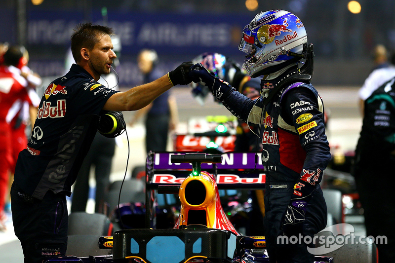 Second place qualifying for Daniel Ricciardo, Red Bull Racing