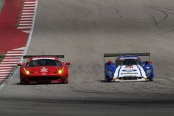 #62 Risi Competizione Ferrari F458: Pierre Kaffer, Giancarlo Fisichella and #01 Chip Ganassi Racing Ford/Riley: Scott Pruett, Joey Hand