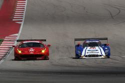 #62 Risi Competizione Ferrari F458: Pierre Kaffer, Giancarlo Fisichella; #01 Chip Ganassi Racing Ford/Riley: Scott Pruett, Joey Hand