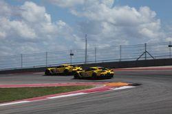 #3 Corvette Racing Chevrolet Corvette C7.R: Jan Magnussen, Antonio Garcia and #4 Corvette Racing Chevrolet Corvette C7.R: Oliver Gavin, Tommy Milner