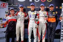 Podium: winner Ukyo Sasahara, ART Junior Team, second place Louis Déletraz, Josef Kaufmann Racing, third place Kevin Jörg, Josef Kaufmann Racing, best rookie Jehan Daruvala, Fortec Motorsports