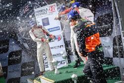 I festeggiamenti del podio