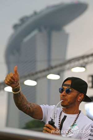 Lewis Hamilton, Mercedes AMG F1 Team on the drivers parade