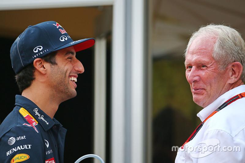 Daniel Ricciardo, Red Bull Racing ile Dr Helmut Marko, Red Bull Motorsporları Danışmanı