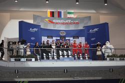 LMGTE Am, Podium: 1. Andrea Bertolini, Viktor Shaitar, Alexey Basov, SMP Racing; 2. Christian Ried,