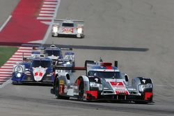 奥迪乔斯特车队7号奥迪R18 e-tron quattro赛车:马塞尔·法斯勒、安德烈·洛特勒、本诺伊特·特鲁耶