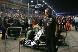 Dr. Vijay Mallya, Propriétaire du Sahara Force India F1 Team sur la grille
