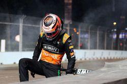 Nico Hulkenberg, Sahara Force India F1 fuori dalla gara dopo l'incidente