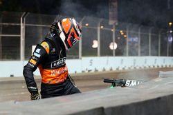 Nico Hulkenberg, Sahara Force India F1 fuori dalla gara dopo l'incidente gara