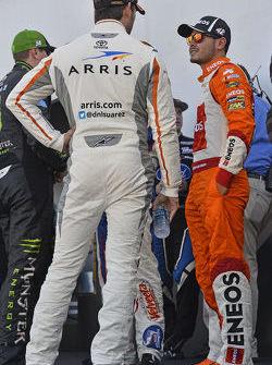 Daniel Suarez, Joe Gibbs Racing ve Kyle Larson, HScott Motorsports