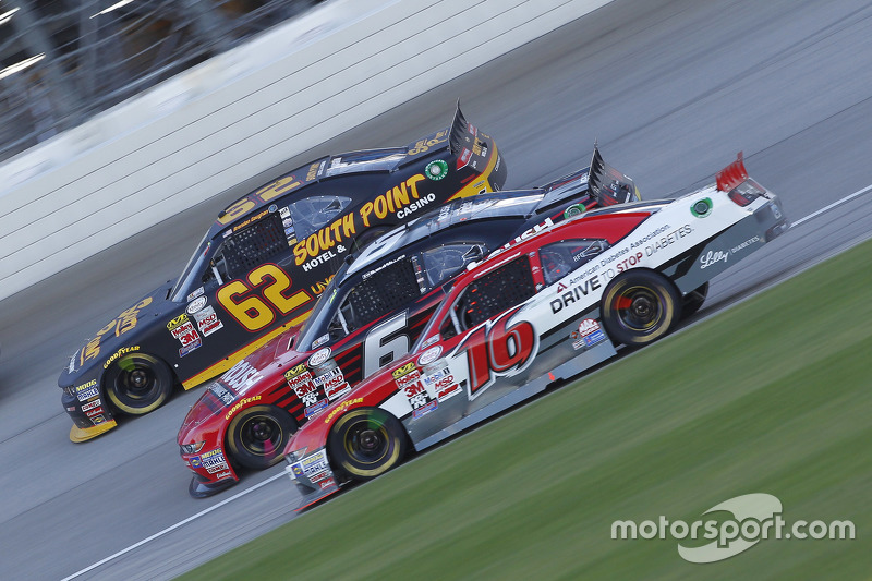 Ryan Reed, Roush Fenway Racing Ford and Darrell Wallace Jr., Roush Fenway Racing Ford and Brendan Ga