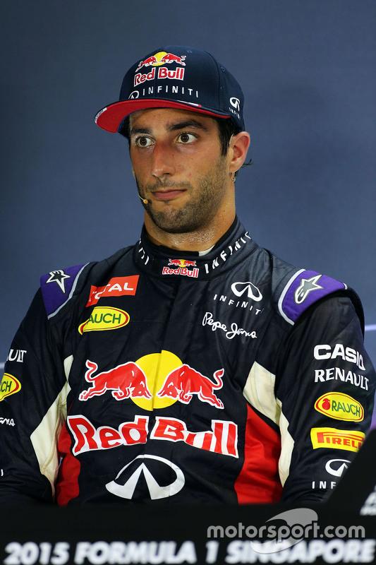 Daniel Ricciardo, Red Bull Racing na coletiva da FIA