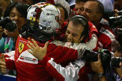 Vencedor Sebastian Vettel, Ferrari