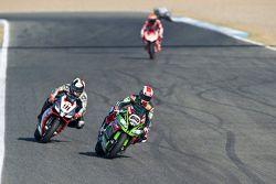 Jonathan Rea, Kawasaki; Leon Haslam, Aprilia Racing Team
