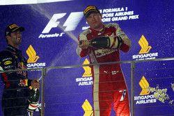 Kimi Raikkonen, Ferrari fête sa troisième place sur le podium