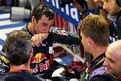 Daniel Ricciardo, Red Bull Racing celebrates his second position in parc ferme