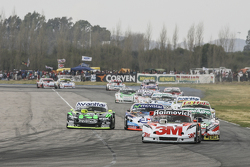 Mariano Werner, Werner Competicion Ford and Facundo Ardusso, Trotta Competicion Dodge and Mauro Giallombardo, Maquin Parts Racing Ford and Christian Ledesma, Jet Racing Chevrolet