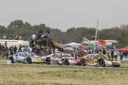 Leonel Pernia, Las Toscas Racing Chevrolet and Matias Rossi, Donto Racing Chevrolet and Josito di Pa
