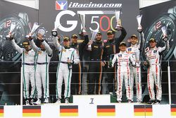 Podium: winners Shane van Gisbergen, Rob Bell, Kevin Estre, Von Ryan Racing, second place Steven Kane, Guy Smith, Andy Meyrick, Bentley Team M-Sport, third place Katsumasa Chiyo, Wolfgang Reip, Alex Buncombe, Nissan GT Academy Team RJN