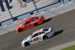 Cole Whitt, Front Row Motorsports Ford and Justin Allgaier, HScott Motorsports Chevrolet