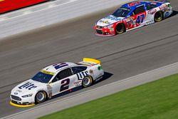 Brad Keselowski, Team Penske Ford and A.J. Allmendinger, JTG Daugherty Racing Chevrolet