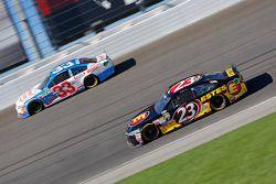 Jeb Burton, BK Racing Toyota and Brian Scott, Richard Childress Racing Chevrolet