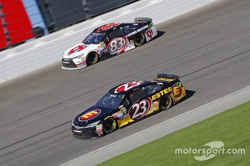Jeb Burton, BK Racing Toyota; Matt Dibenedetto, BK Racing Toyota