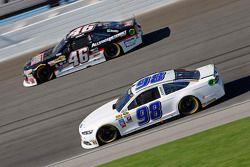 Reed Sorenson, Premium Motorsports Ford and Michael Annett, HScott Motorsports Chevrolet