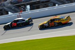 Martin Truex Jr., Furniture Row Racing Chevrolet; David Gilliland, Front Row Motorsports Ford