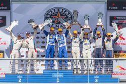 Overall podiums: P winners #01 Chip Ganassi Racing Ford/Riley: Scott Pruett, Joey Hand, PC winners #54 CORE autosport Oreca FLM09: Jon Bennett, Colin Braun, GTLM winners #25 BMW Team RLL BMW Z4 GTE: Bill Auberlen, Dirk Werner and GTD winners #33 Riley Motorsports SRT Viper GT3-R: Ben Keating, Jeroen Bleekemolen