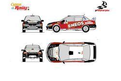 Livrea della Mitsubishi Lancer Εvolution IX di Panicos Polykarpou per il Rally di Cipro