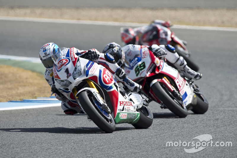 Sylvain Guintoli, Pata Honda; Niccolo Canepa, Althea Racing