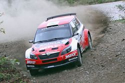 Pontus Tidemand and Emil Axelsson, Skoda Fabia S2000, Team MRF
