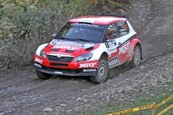 Pontus Tidemand y Emil Axelsson, Skoda Fabia S2000, Team MRF
