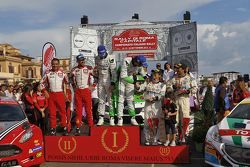 Podio: Umberto Scandola e Guido D'Amore, Skoda Motorsport Italia, Giandomenico Basso e Lorenzo Gran