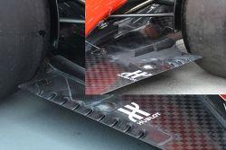 Le fessure del fondo attuale della Ferrari con inserto della soluzione precedente
