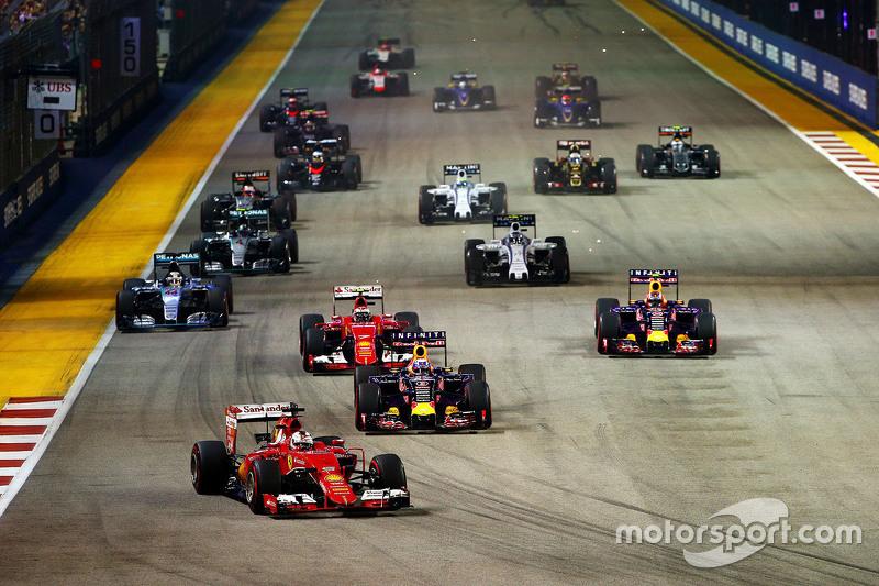 7 гонок из 10 в Сингапуре были выиграны с поула