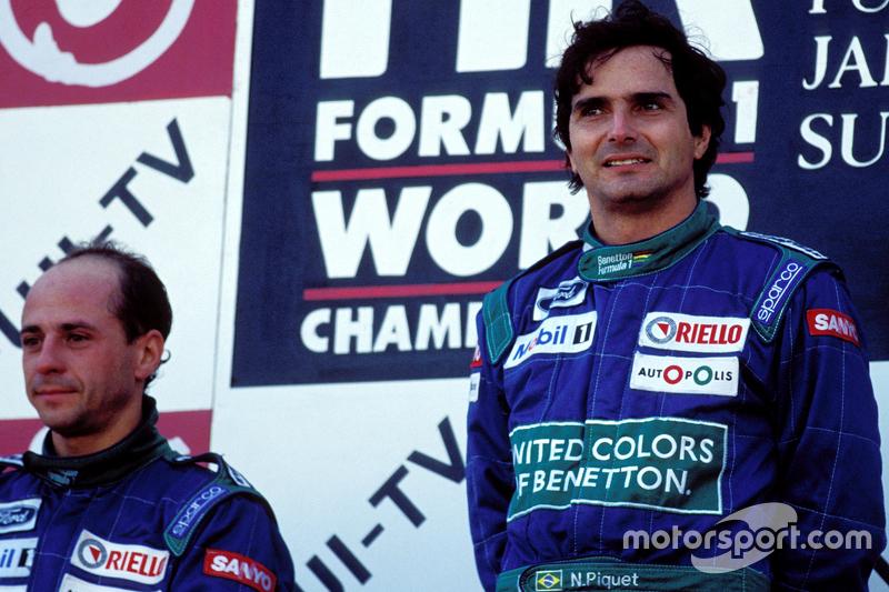 Pódio: Vencedor Nelson Piquet, Benetton, segundo lugar Roberto Moreno, Benetton