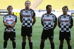 Star Team for Children VS National Team Drivers, Charity Football Match, Louis II StadiumAlbert II: Felipe Massa, Scuderia Ferrari, Robert Doornbos, Test Driver, Red Bull Racing and Sam Bird