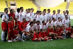 Star Team for Children VS National Team Drivers, Charity Football Match, Louis II StadiumAlbert II: Star Team for Children
