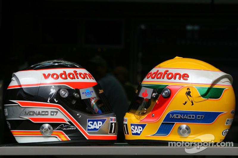 Fernando Alonso, y Lewis Hamilton, GP Mónaco 2007