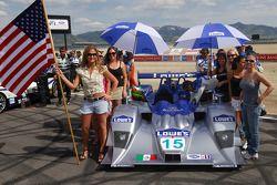 The #15 Lowe's Fernandez Racing Lola B06-43 Acura