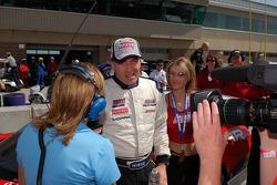 Tommy Archer celebrates a first place finish