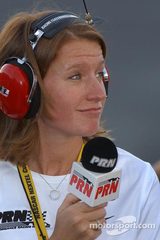 Erin Crocker working for PRN radio at Charlotte