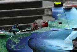 Rubens Barrichello, Honda Racing F1 Team con un diseño de casco de JMD con una especial pintura term