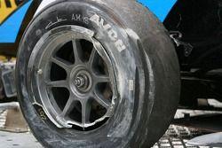 Dommages sur la roue de Mustonen