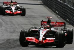 Fernando Alonso, McLaren Mercedes, MP4-22 and Lewis Hamilton, McLaren Mercedes, MP4-22