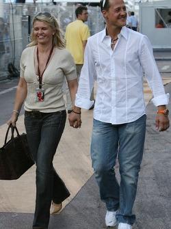 Michael Schumacher, Ferrari Scuderia y Corina Schumacher, esposa de Michael Schumacher